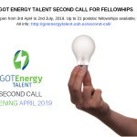Got Energy Talent second call for fellowships is open – Applications until 2nd July!